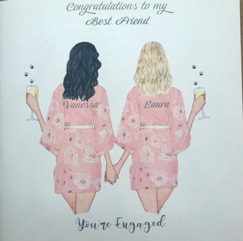 best friend card etsy the best engagement gifts for couples in 2020