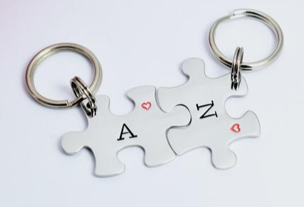 keyring etsy the best engagement gifts for couples in 2020