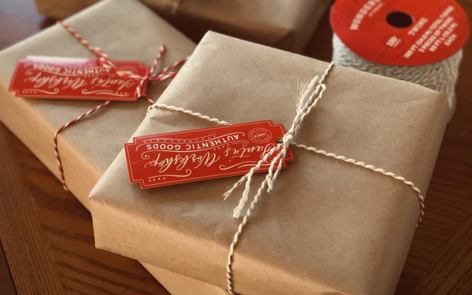 wrapped presents in eco friendly way