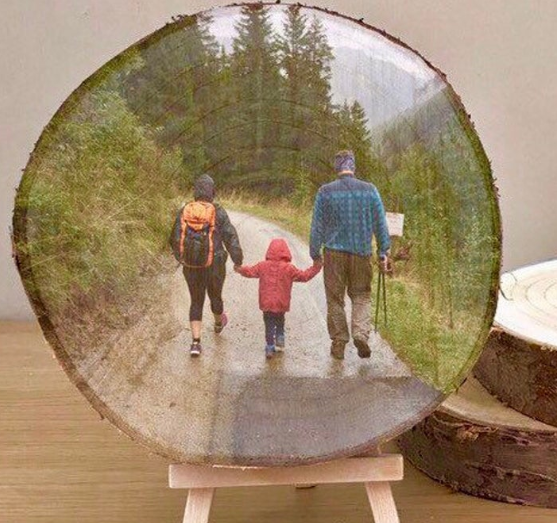 12 fathers day gifts wood slice family portrait