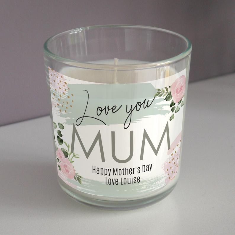 mother's day candle gift from etsy seller