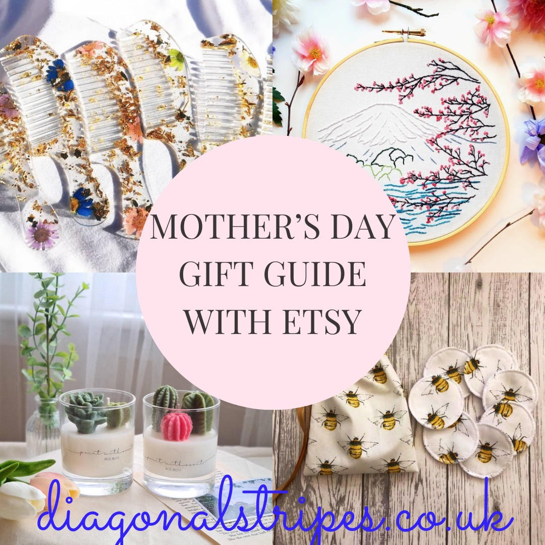 mother's day gift guide with etsy blog banner