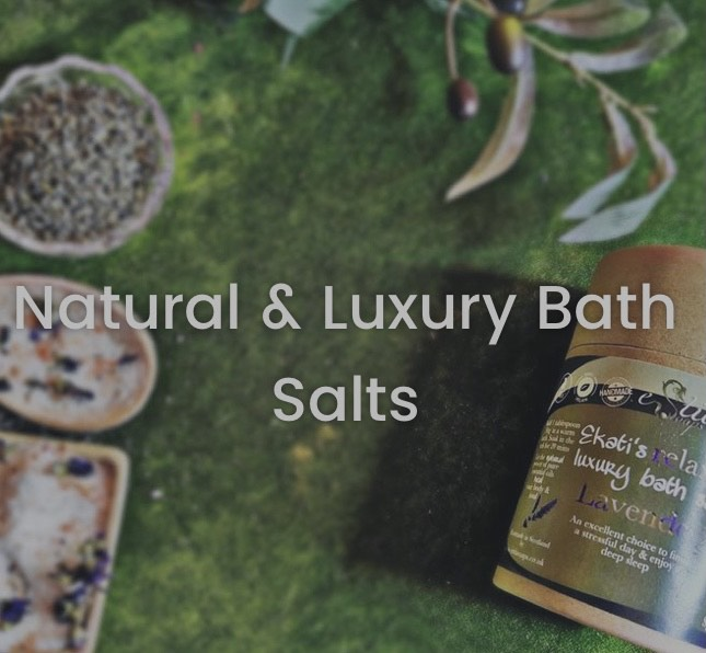 natural and luxury bath salts photo